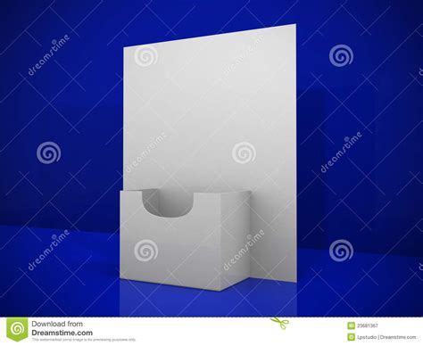 3 d blank card template 3d blank brochure holder template royalty free stock
