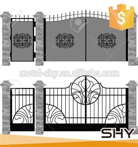 Wrought Iron Garden Trellis Black Wrought Iron Gate Flower Scroll Design Buy