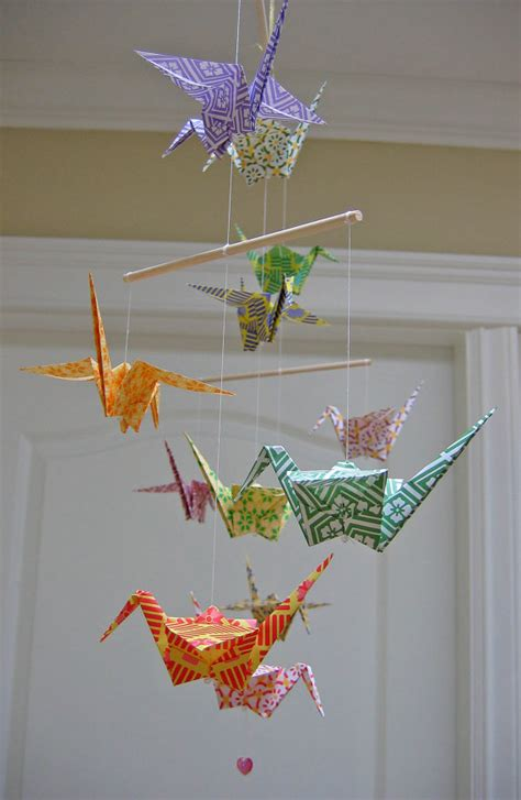 Buy Origami Cranes - origami crane mobile colourful chiyogami print papers
