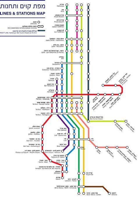 jerusalem light rail map maps page