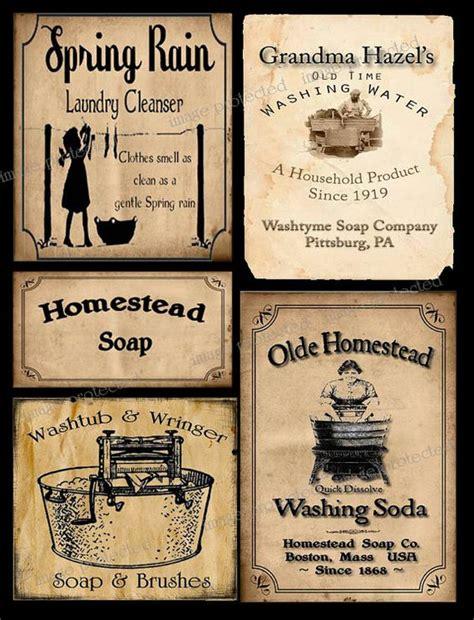 printable primitive labels vintage primitive style coffee label instant download