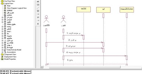membuat sequence diagram di rational rose تجزیه و تحلیل سیستم انبار با uml در نرم افزار rational rose