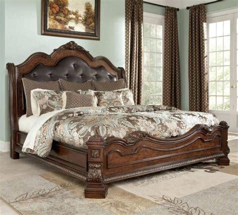 Size Bedroom Furniture Sets Clearance Leather Platform Bed Upholstered Headboard Marcelalcala