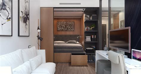 studio apartment bed solutions 3 small spaces packed with big style includes floor plans