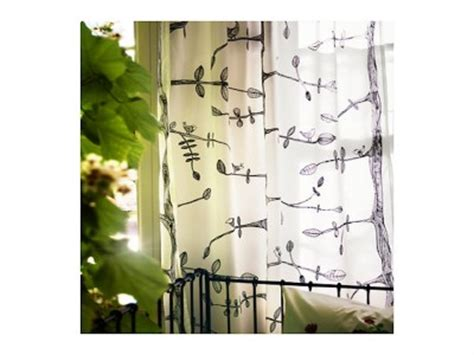 ikea tree curtains ikea eivor 1 pair of sheer curtains drapes 2 panels