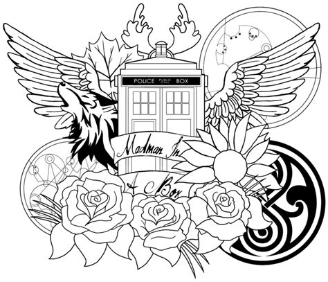 Dr Who Coloring Book Printable 7 free doctor who fan coloring books plus bonus
