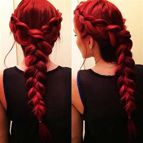 braided hairstyles red hair 20 cute styles for long hair long hairstyles 2016 2017