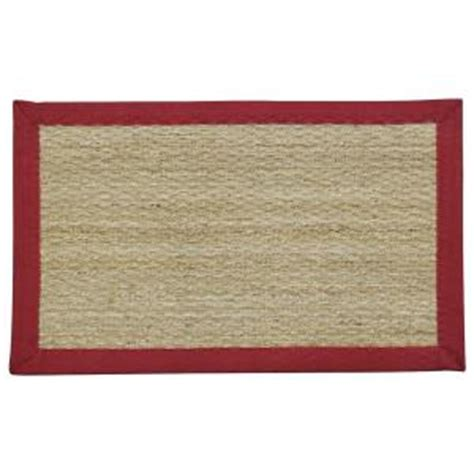 Home Depot Grass Mat by Binding 20 In X 31 5 In Seagrass Door Mat