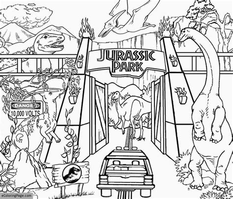 coloring pages for jurassic world jurassic world coloring page ecoloringpage com