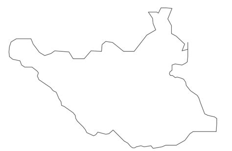 South Sudan Map Outline by Geo Map Africa South Sudan