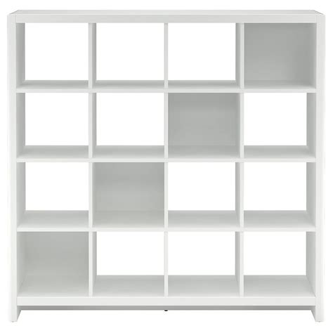 white bookcase room divider new york skyline plumeria white 16 cube bookcase room