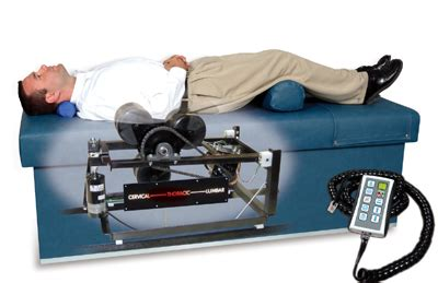 traction table for back intersegmental traction rollers therapy