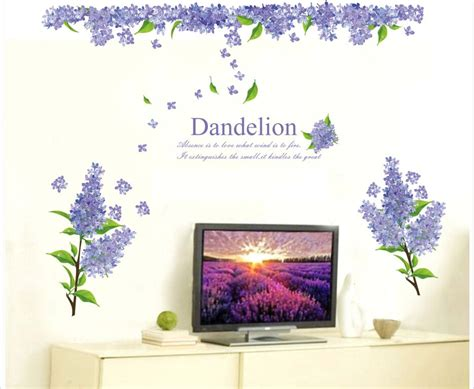 Sticker Kaca Purple jual dandelion purple flower abc1004 stiker dinding