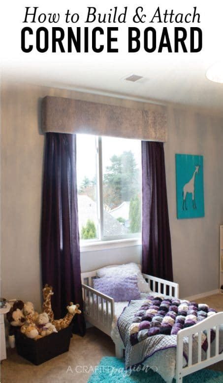 How To Build Window Cornice by How To Build Attach A Cornice Board