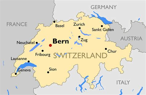 switzerland map in world map map of switzerland guide of the world