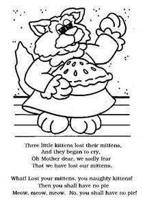 three little kittens coloring page little kittens 1
