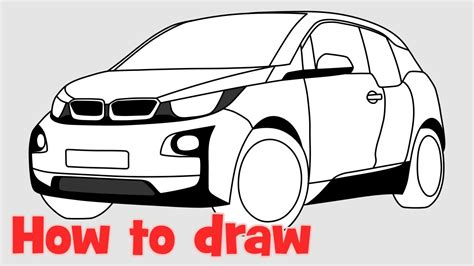how to draw a car bmw i8 step by step easy how to draw a car bmw i3 step by step