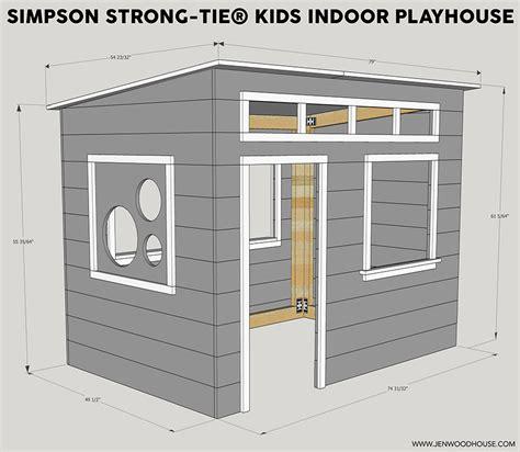 diy indoor easy indoor playhouse