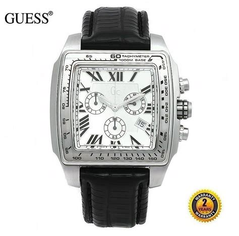 Guess Gc3590 Small Black Bracelet guess gc s square chronograph steel and 50 similar items