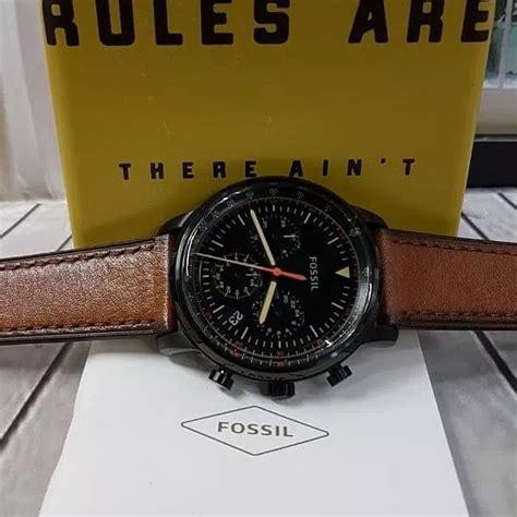 jam tangan pria fossil fs  leather kulit original