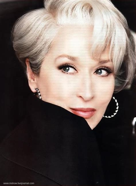meryl streep as miranda priestly in devil wears prada 15 best senior hairstyles images on pinterest hairstyles