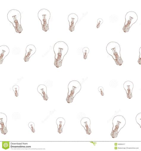 doodle god how to create light bulb light bulb doodle seamless pattern on white stock vector