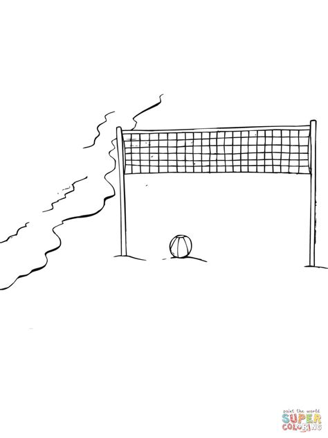 volleyball net coloring page beach volleyball field coloring online super coloring