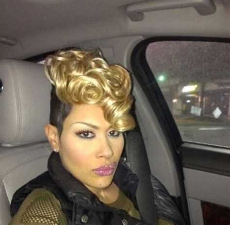 keke wyatts short cut with long front keke wyatt cut curl dye pinterest hair