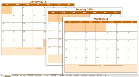 excel 2018 calendar template free january printable calendars excel 2018 printable