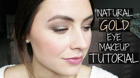 natural gold makeup tutorial natural gold eye makeup tutorial jordan christine