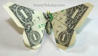Butterfly Origami Money - origami origami dollar bill butterfly folding