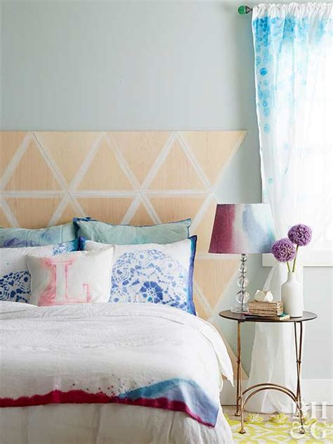 geometric headboard how to make a geometric headboard