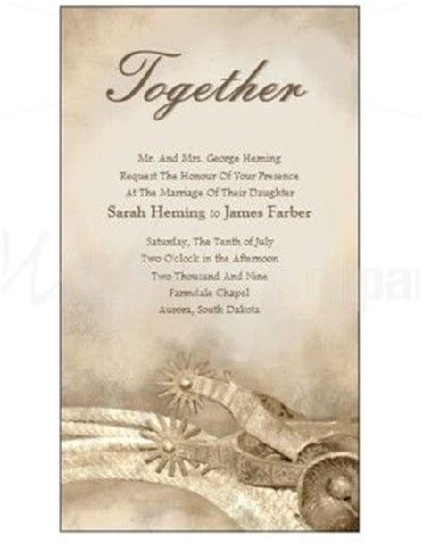 western wedding invitations templates 25 best ideas about western wedding invitations on