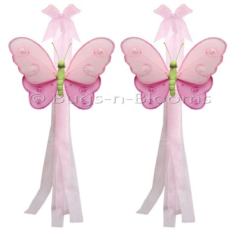 Butterfly Tieback Dk Pink Green Pink Hailey Curtain Tie