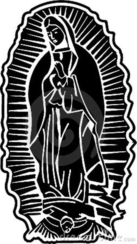 imagenes virgen de guadalupe blanco y negro se 241 ora del arte del vector de guadalupe imagenes de