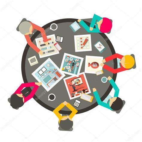 circle table l personnes 224 travers l illustration vue de dessus de cercle