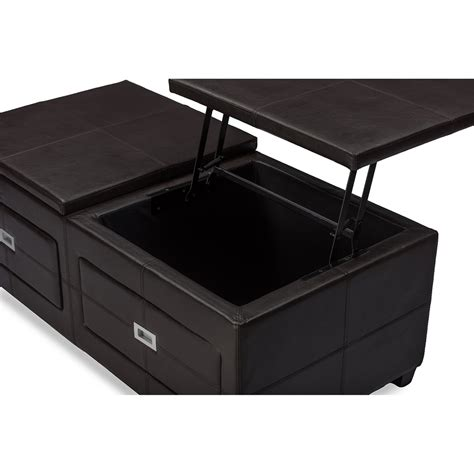 lift top storage ottoman coffee table baxton studio indy modern and contemporary functional lift