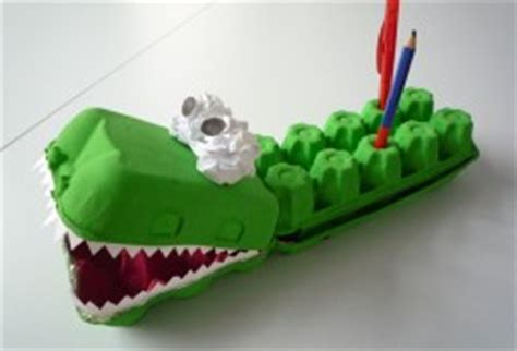 Krokodil Basteln Eierkarton by Hallo Benjamin Basteln