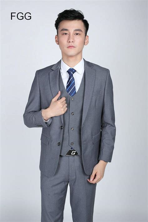 Formal Korea Dress Gray 1 korean brand two button suit jacket and gentleman gray business formal suit best