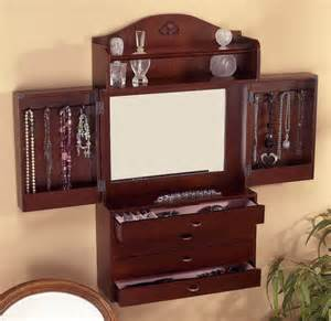Bedroom Vanity With Jewelry Storage Beautiful Looking Jewelry Armoires Add Ambience To Your