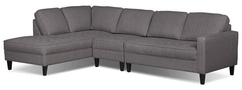 couches at the brick paris 3 piece linen look fabric left facing sectional