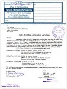 letter of occupancy template occupancy certificate completion certificate importance