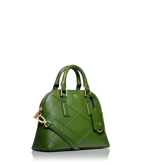 Burch Robinson Stitched Mini Dome Satchel Navy Import Quality burch robinson stitched mini dome satchel in green lyst