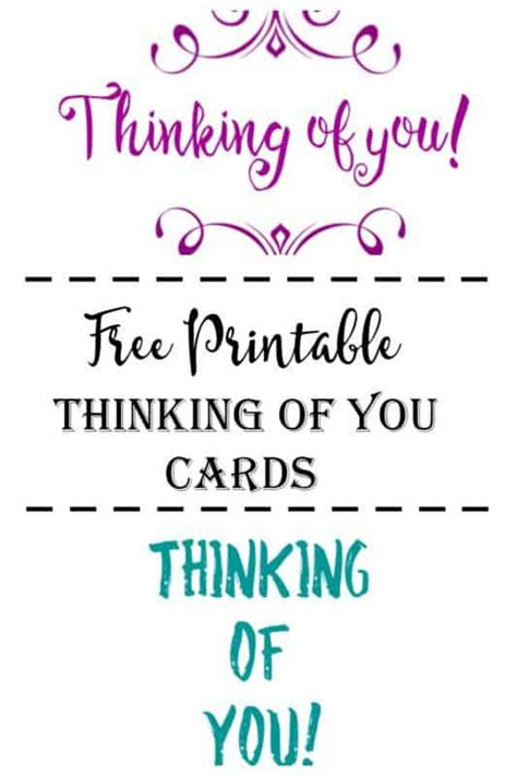 card template thinking of you free printable thinking of you cards cultured palate