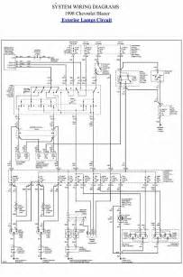 exterior l circuit diagram of 1998 chevrolet blazer all about wiring diagrams