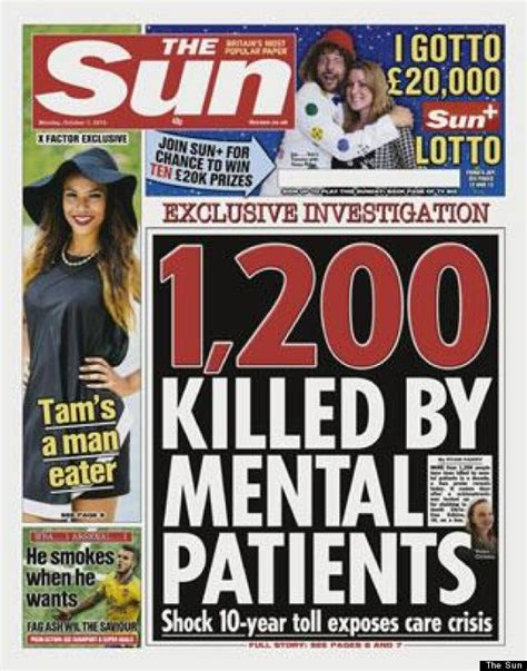 news articles from 2015 view articles from 2006 2007 2008 the sun front page angers mental health caigners