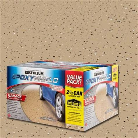 rust oleum epoxyshield 2 gal 2 part high gloss epoxy garage floor coating kit 251871 the