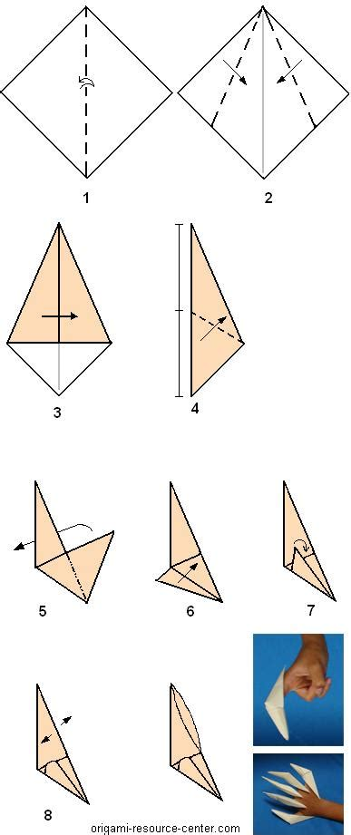 How To Make A Origami Finger Claw - claw origami paper 171 embroidery origami