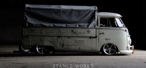 volkswagen truck slammed splitty wants to eat floor vw type ii window