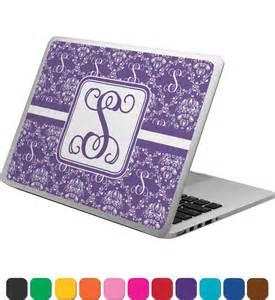 initial damask laptop skin custom sized personalized